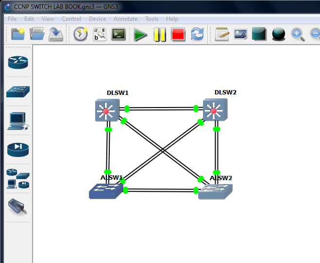 CCNP SWITCH LAB Book Topology in GNS3 | Configuration Bending